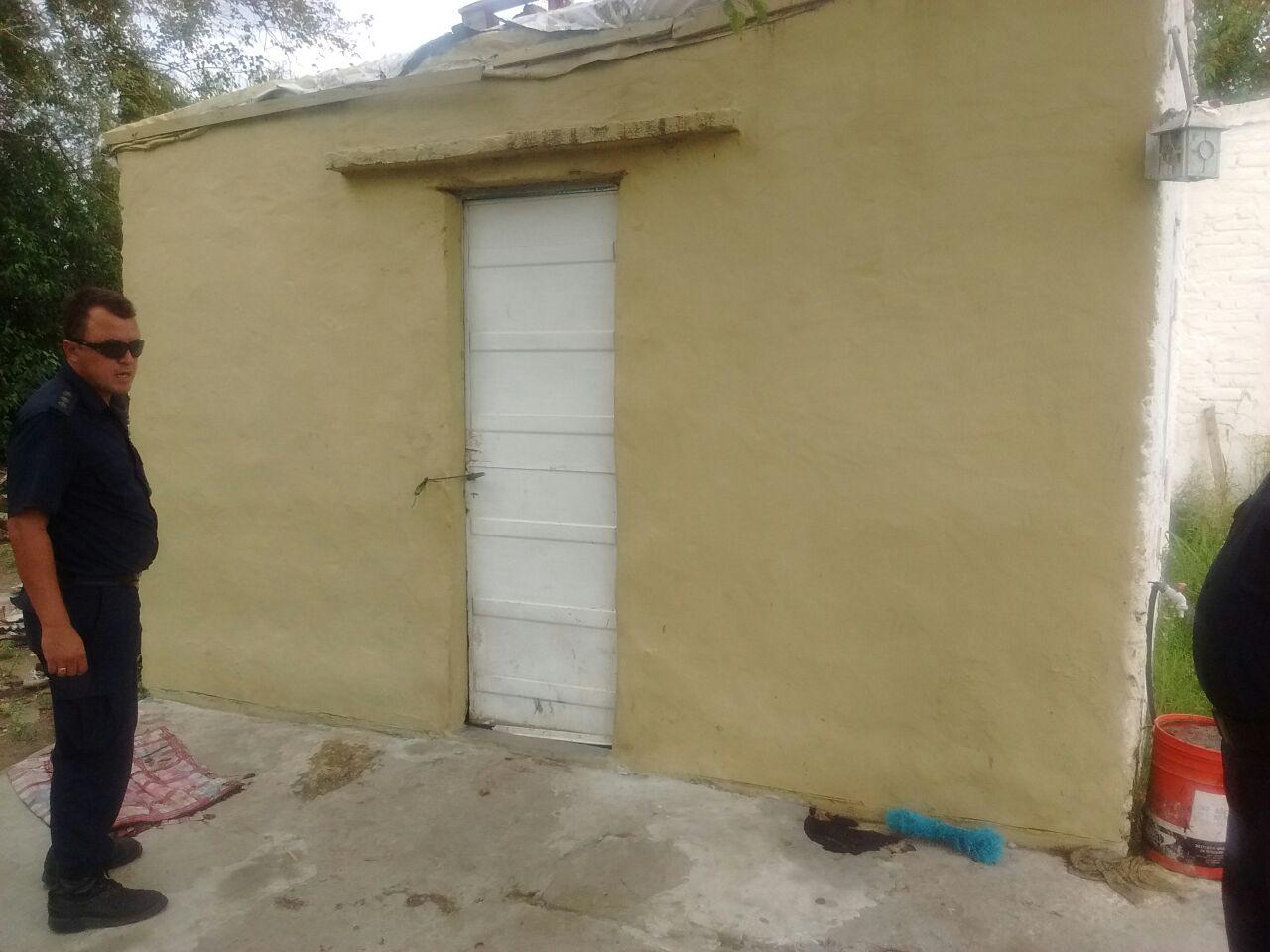 Vivienda en Facundo Quiroga donde se secuestraron los elementos detallados
